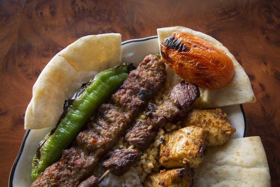 The mixed grill platter at Mekan Gyro &