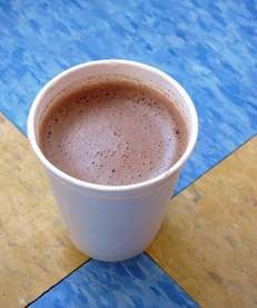 The malted hot chocolate at Herrell's Ice Cream