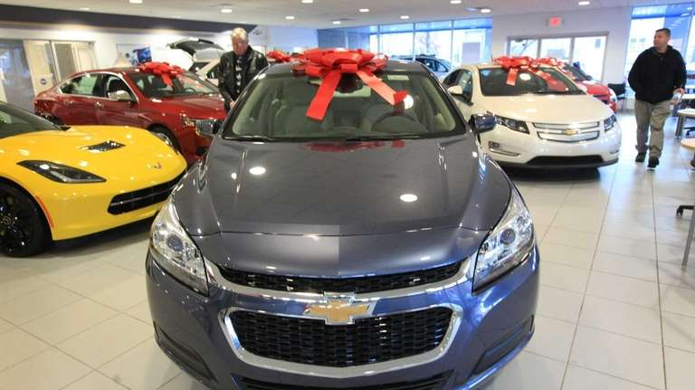 The showroom at Smithtown Chevrolet is full of