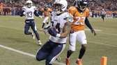 San Diego Chargers running back Ryan Mathews crosses