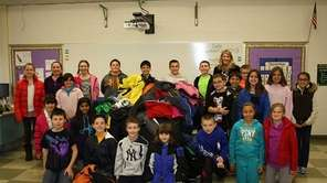 In East Setauket, Minnesauke Elementary pupils collected 155