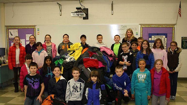 In East Setauket, Minnesauke Elementary pupils collected 155