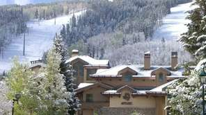 Antlers resort in Colorado faces Vail Mountain.