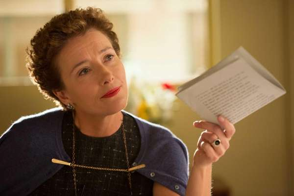 This image released by Disney shows Emma Thompson