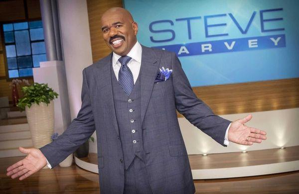 Steve Harvey on the set of his talk