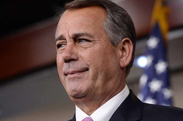 Speaker of the House Republican John Boehner during