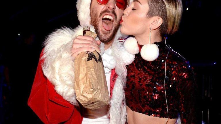 Miley Cyrus backstage at Z100's Jingle Ball 2013
