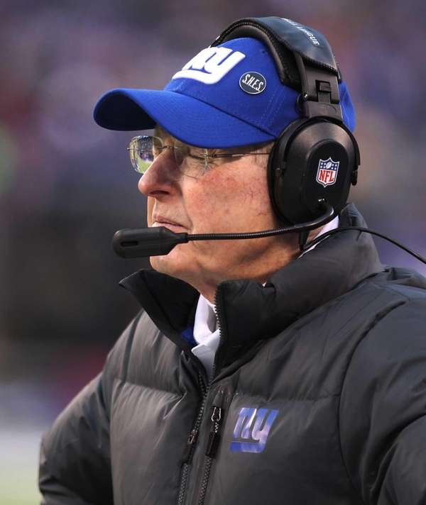 Tom Coughlin reacts after Seattle Seahawks wide receiver