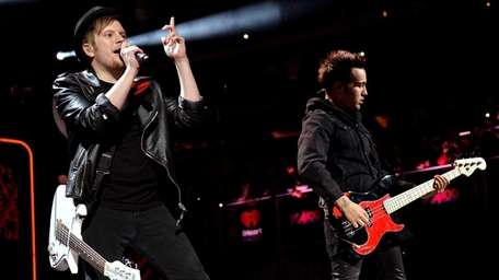 Patrick Stump of Fall Out Boy performs onstage