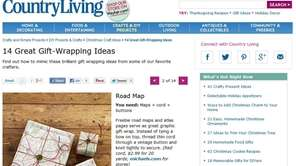 Country Living's website has gift-wrapping ideas and instructions.