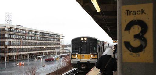 The LIRR station in Hicksville is pictured. (Dec.