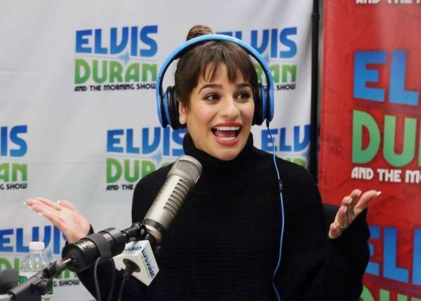 Lea Michele visits the Elvis Duran z100 Morning
