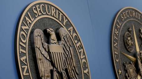 A sign stands outside the National Security Administration