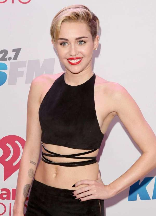 Miley Cyrus attends KIIS FM's Jingle Ball 2013