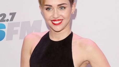 Miley Cyrus attends KIIS FM's Jingle Ball 2013