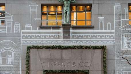 Luxury stores such as Tiffany & Co. are