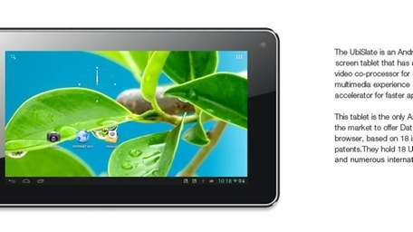 The $38 UbiSlate 7Ci tablet features a 7-inch