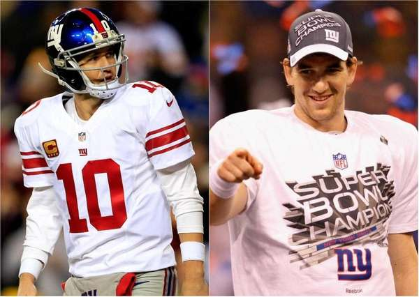 Eli Manning has performed like two different quarterbacks