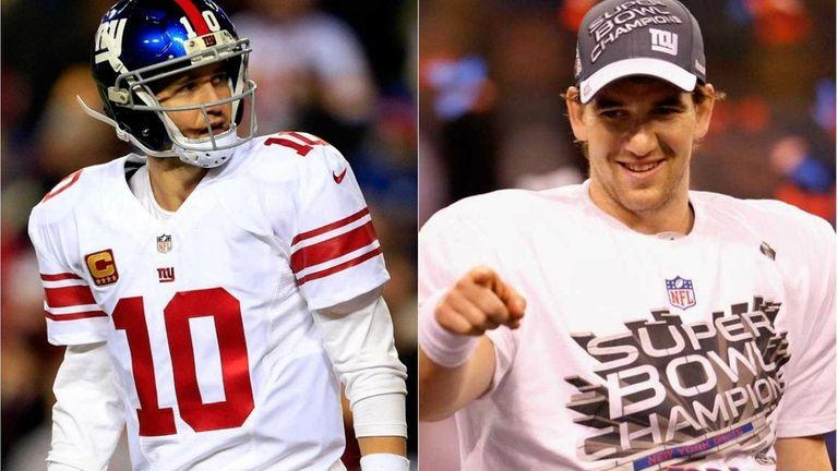Eli Manning has performed like two different quarterbacks