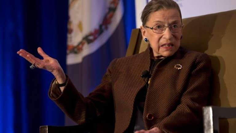 Supreme Court Justice Ruth Bader Ginsburg speaks to
