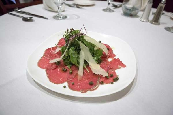Beef carpaccio is a popular appetizer at Spezia