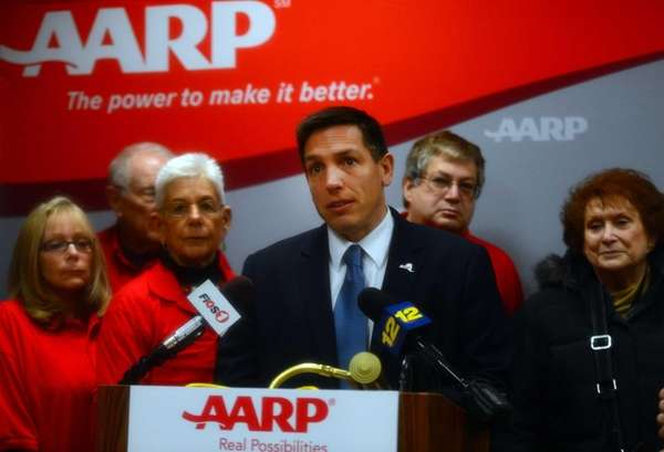 AARP Associate State Director William Stoner is joined