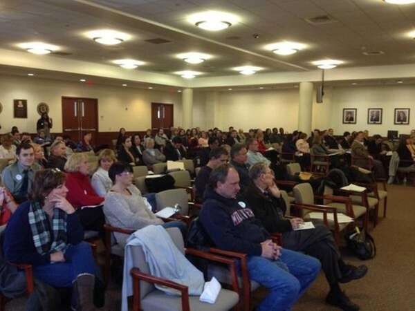 It was a packed house Wednesday morning in