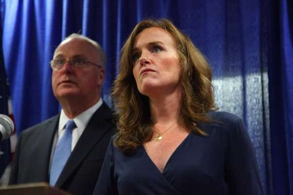 Nassau DA Kathleen Rice and Nassau Police Commissioner