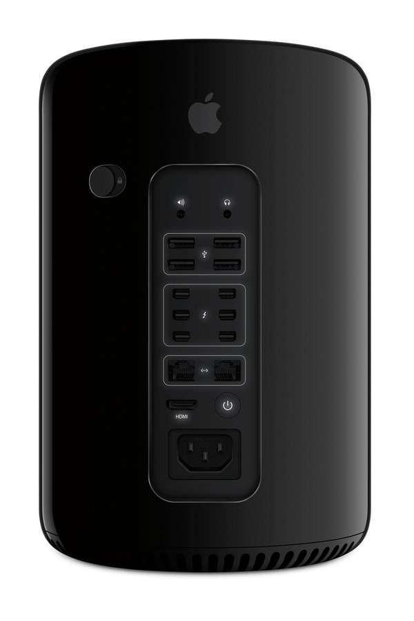 The sleek, rounded black machine, which looks like