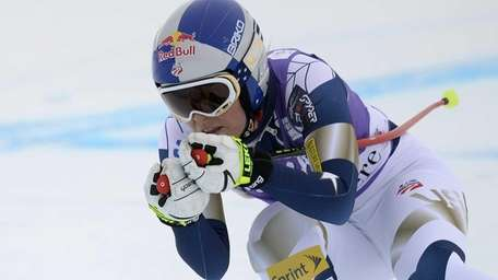 Lindsey Vonn competes during the second training session