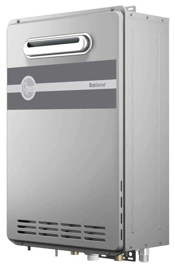 The Rheem EcoSense water heater only heats water