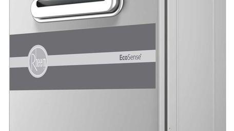 The Rheem EcoSense water heater only heats water