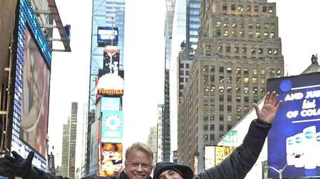 Radio hosts Boomer Esiason and Craig Carton, of