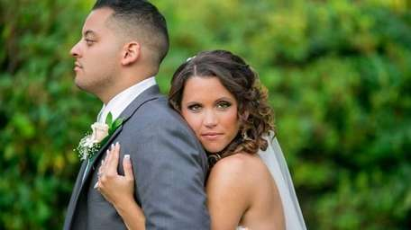 Alfredo and Cassie Varela on their wedding day