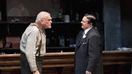 Brian Dennehy, left, portraying one-time syndicalist-anarchist Larry Slade