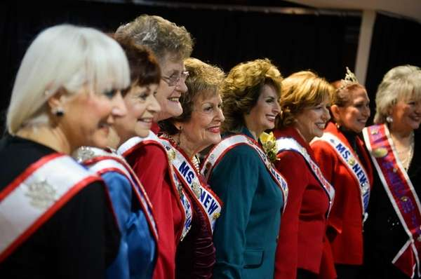 Past Ms. Senior New York winners pose for