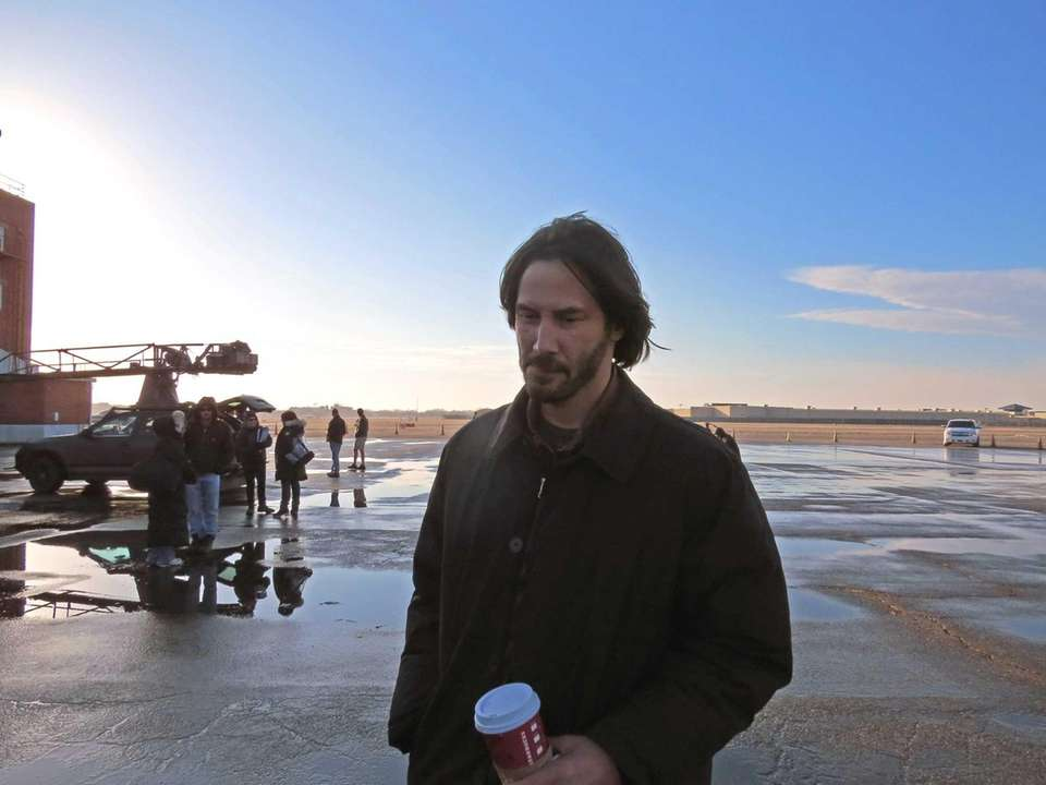 Actor Keanu Reeves at Republic Airport in Farmingdale,