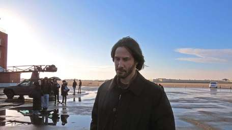 Actor Keanu Reeves filmed scenes for the 2014