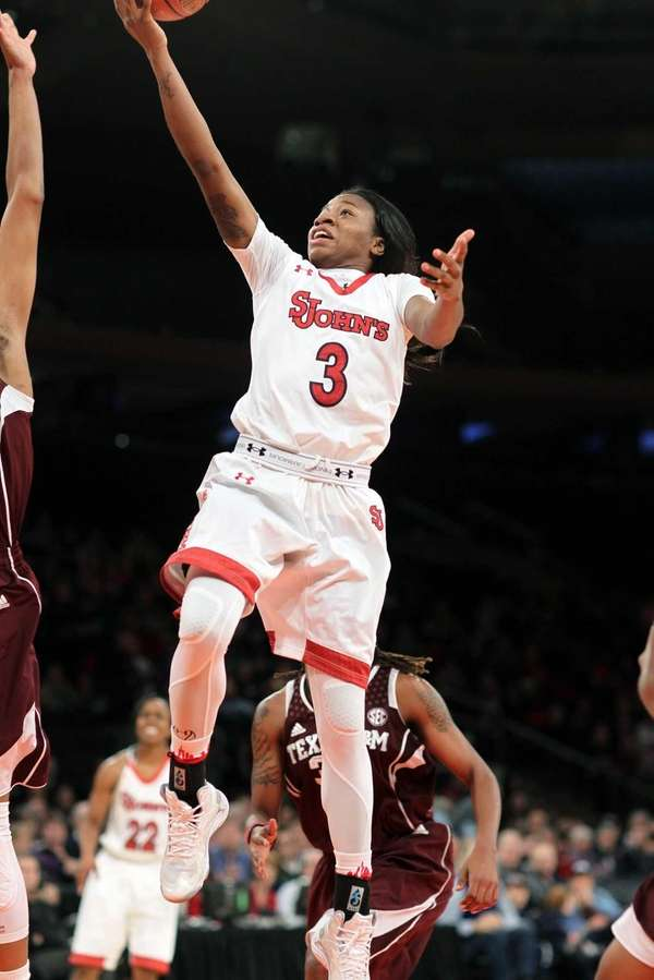 St. John's Aliyyah Handford hits the winning basket