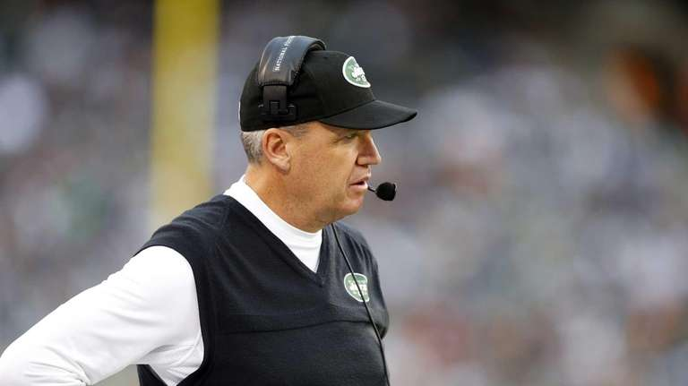 Rex Ryan looks on from the sidelines during