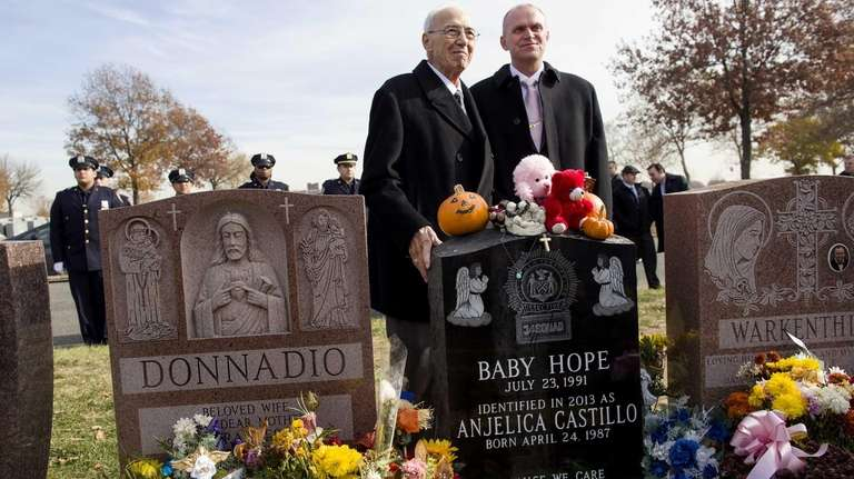 Retired NYPD detective Jerry Giorgio stands with Cold
