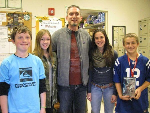Kidsday reporters (l) Jack Marcincuk, Jillian Kolarik, Carly