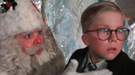 Ralphie meets Santa in the 1983 holiday classic