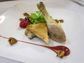 Mirabelle's namesake dish, duck Mirabelle, is a two-course