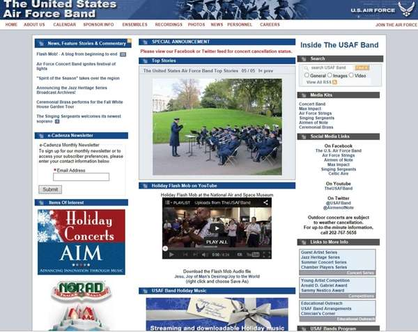 The United States Air Force Band website (usafband.af.mil)