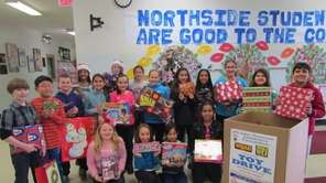 In Levittown, Northside Elementary School collected more than