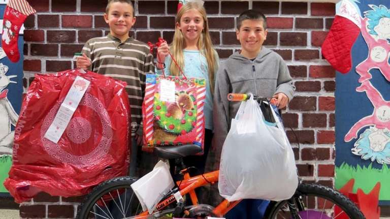 Wading River Elementary School collected holiday gifts for