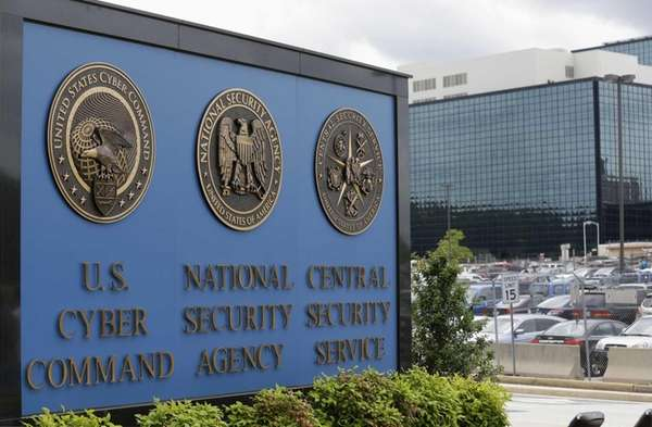 A sign is pictured outside the National Security