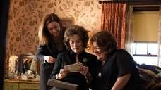 From left, Julianne Nicholson, Meryl Streep and Margo