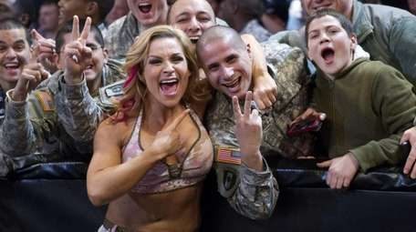 WWE Diva Natalya performs at the wrestling company's